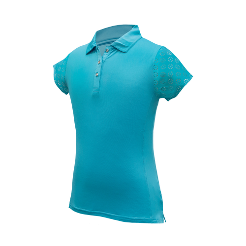 Kendall - Girls Performance Golf Polo W/ Sleeve & Back Cutout