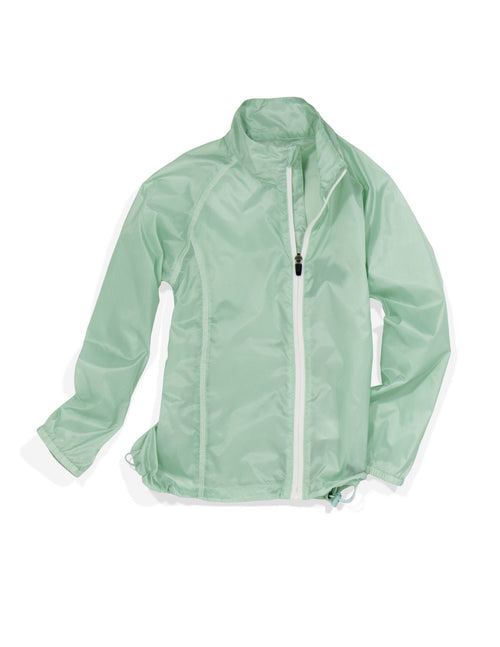 """Angela"" Youth Girls Wind & Water Resistant Light Golf Jacket"