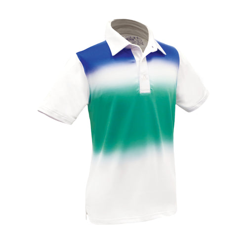 Colton - Boys Performance Golf Gradient Polo by Garb Kids Golf Apparel