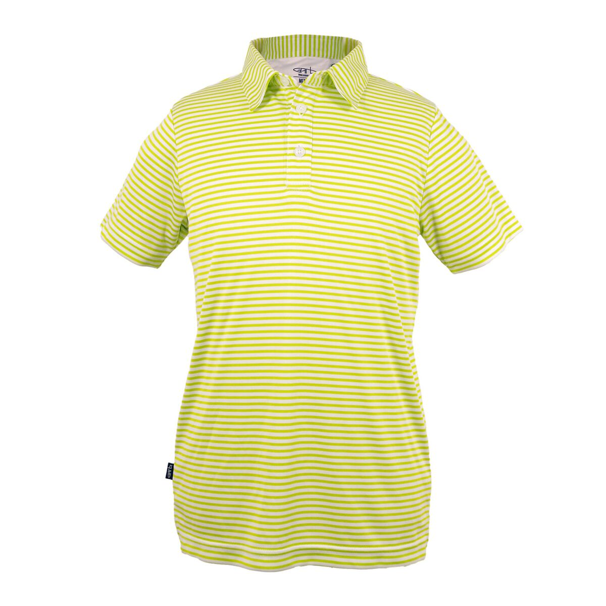 Chandler - Toddler Boys Lime Green Striped Polo