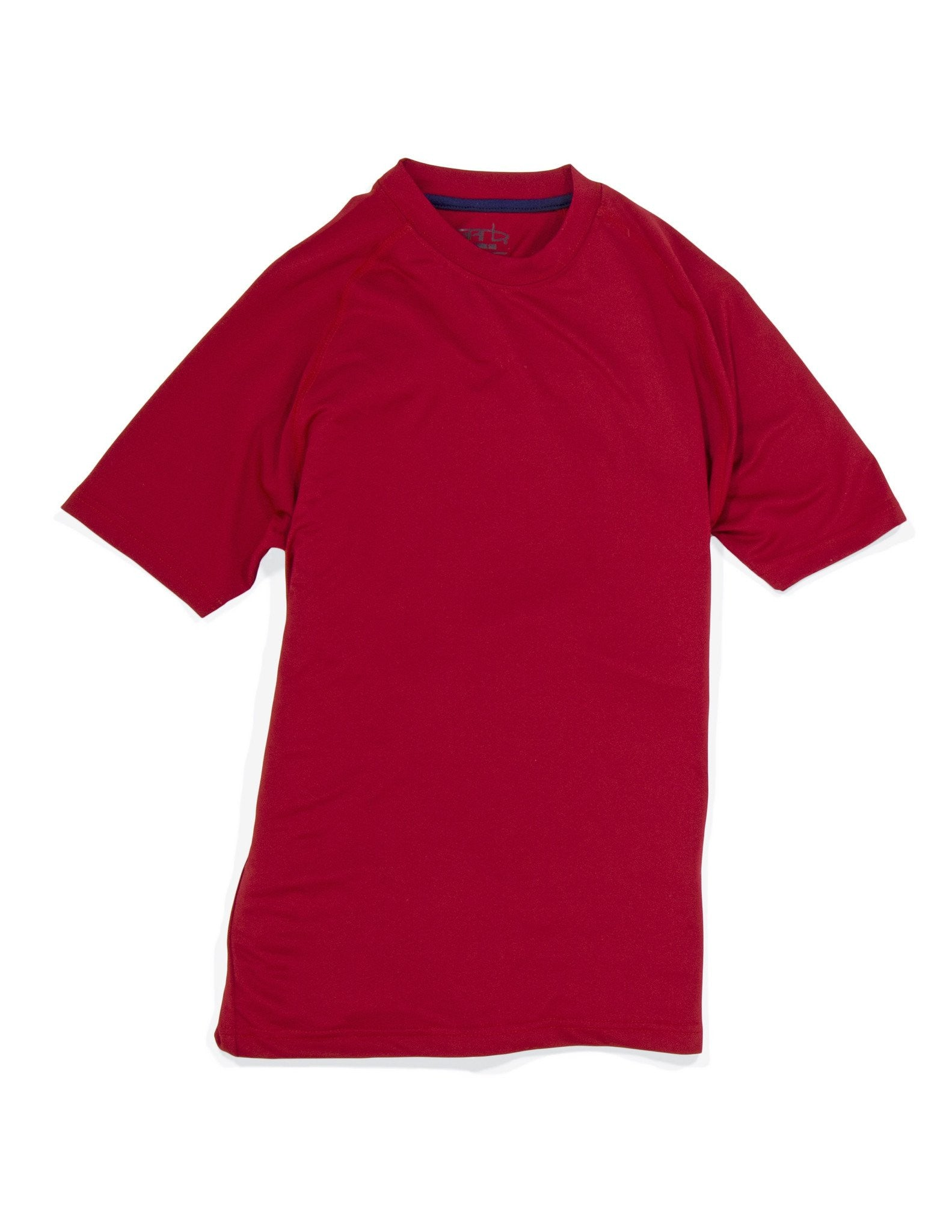 Garb boy's golf crew tee in tomato red