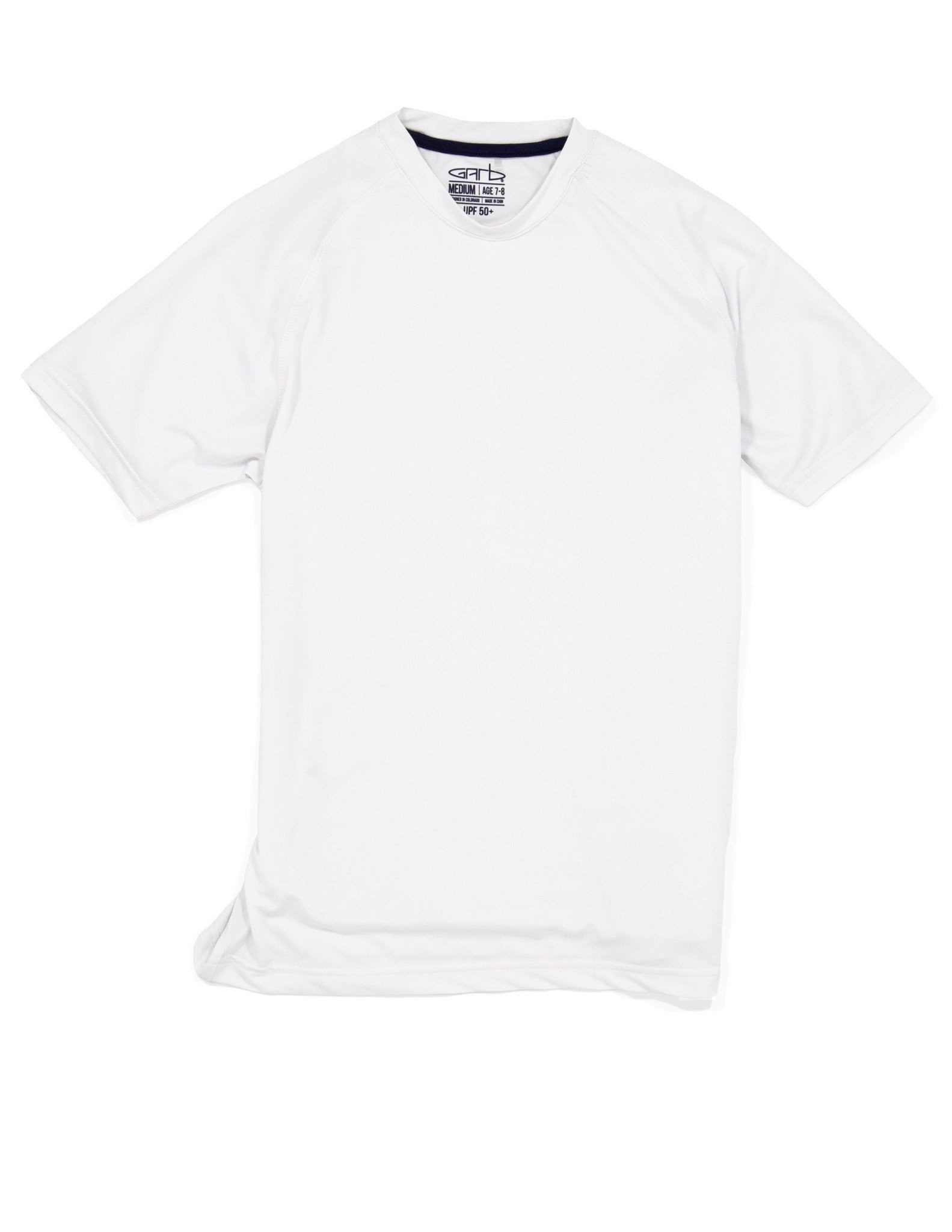 Garb boy's golf crew tee in white
