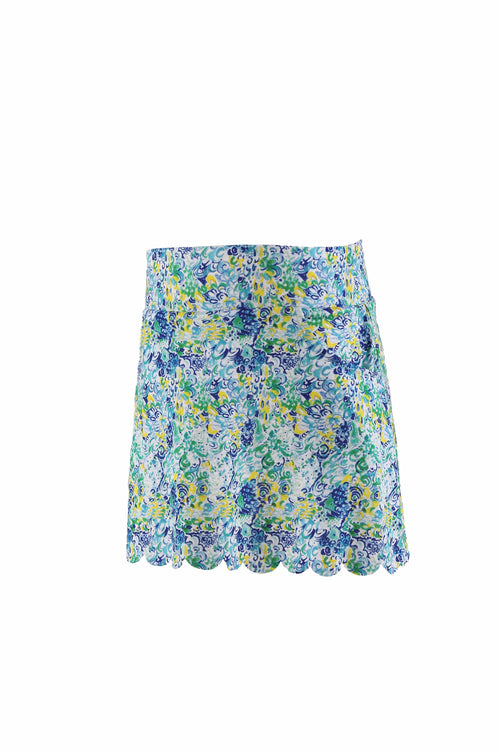 Eve Youth Girl's Performance Skort With Scalloped Hem
