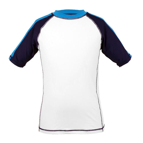 Garb Boys Navy and White Rash Guard