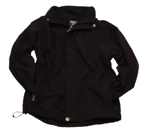 Garb Boys Willard Junior Golf Rain Jacket in Black