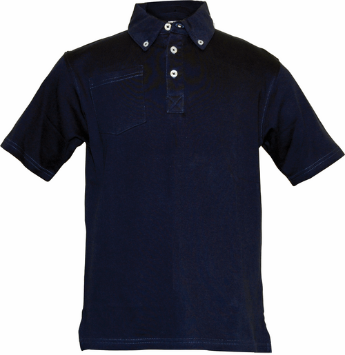 Garb Boys Cotton Junior Golf Polo, Gordon in Navy