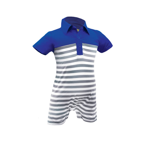 Jason - Infant Boys Yarn Dyed Romper