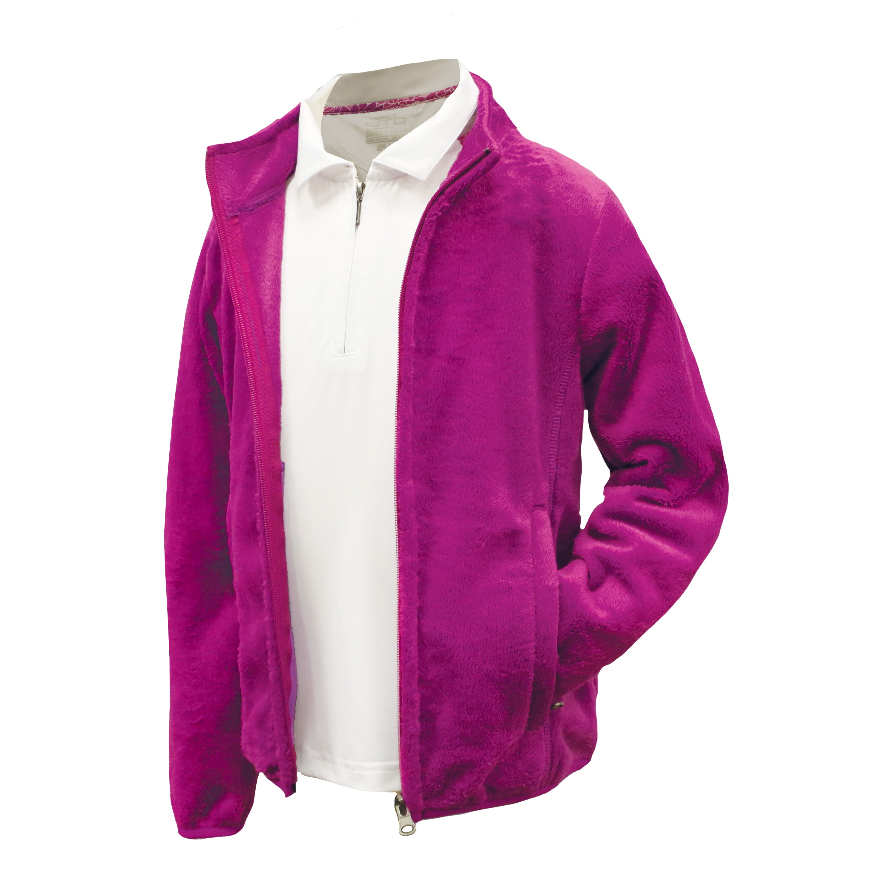 Leslie - Girls Full Zip Plush Golf Jacket By Garb Inc Junior Golf Apparel for Girls