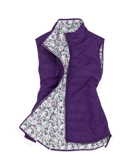 Garb girls golf reversible quilted vest