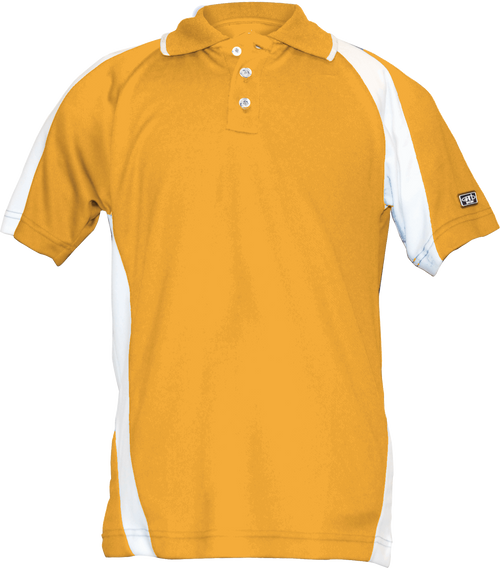 Garb Boys Performance Junior Golf Polo, Nelson in Blazing Orange