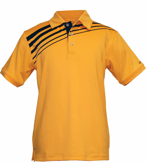 Garb Boys Performance Junior Golf Polo, Phoenix in Blazing Orange