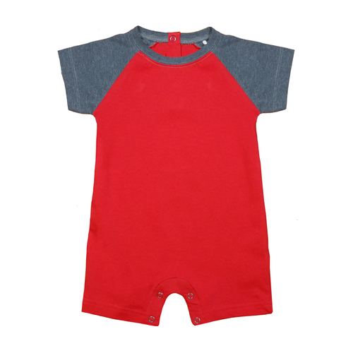 Randy - Basic Infant Football Style Romper