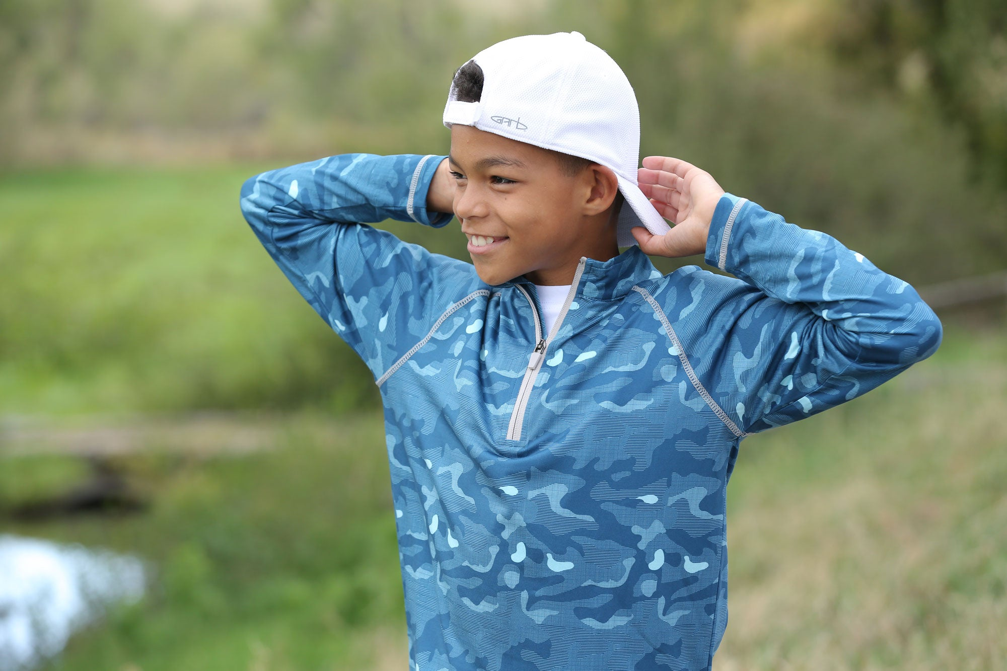 Benton - Boys Quarter-Zip Golf Pullover