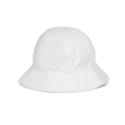 Bonnet - Infant Unisex White Bucket Hat