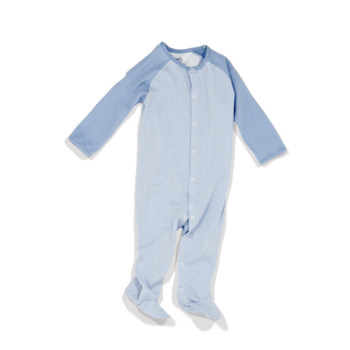 Camden - Infant Boys's Long Sleeve Polka-Dot Footed Romper
