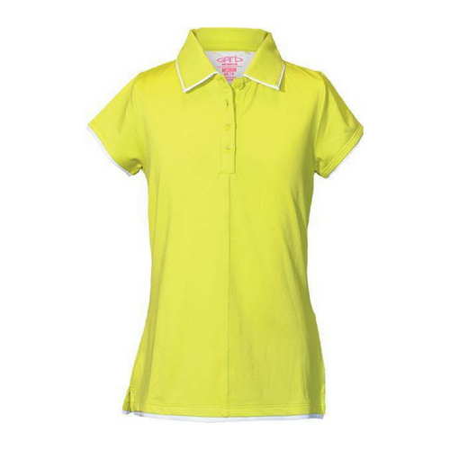 """Alexis"" Toddler Girls Yellow Lime Golf Polo by Garb"