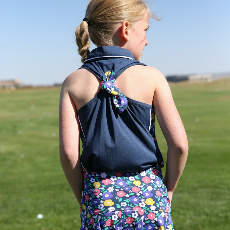 Dobby - Girls Sleeveless Golf Polo