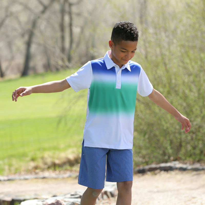 Lifestyle Photo of Dalton - Boys Hybrid Swim & Golf Shorts by Garb Junior Golf Apparel for Kids