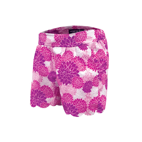 Whitney - Girls Floral Golf Shorts