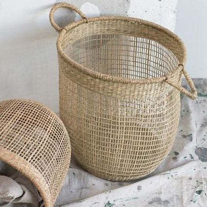 15 inch woven jute basket available at Rook & Rose
