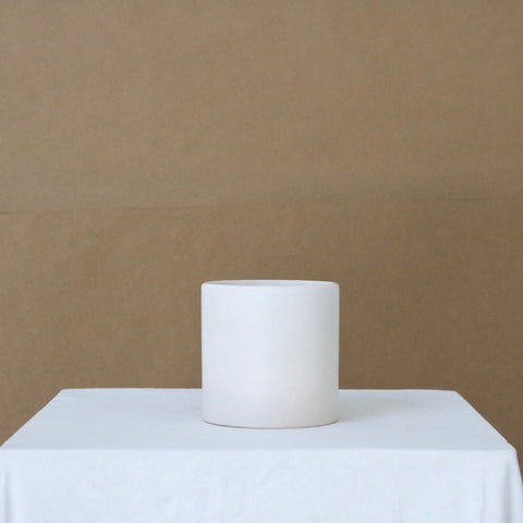 Small Matte White Cercle Ceramic Pot available at Rook & Rose in Victoria, British Columbia, Canada