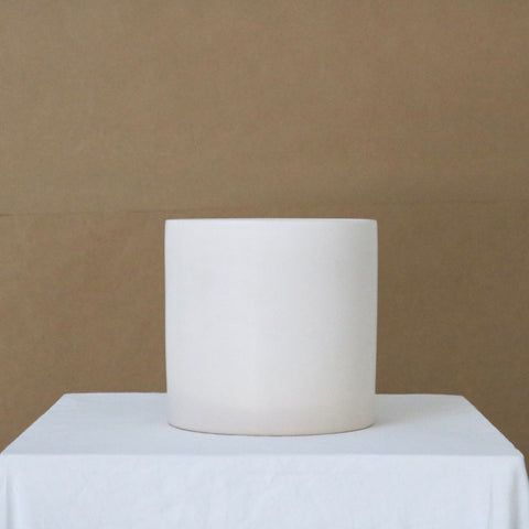Large Matte White Cercle Ceramic Pot available at Rook & Rose in Victoria, British Columbia, Canada