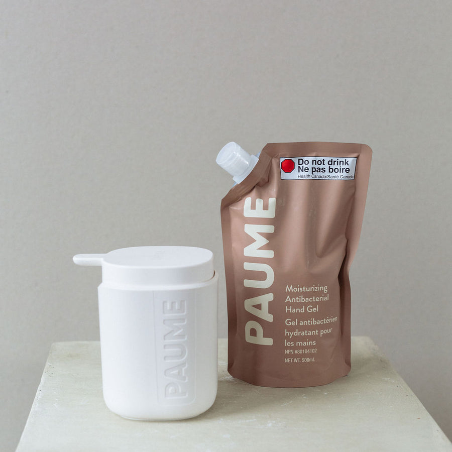 Paume hand sanitizer refill bag available at Rook & Rose.