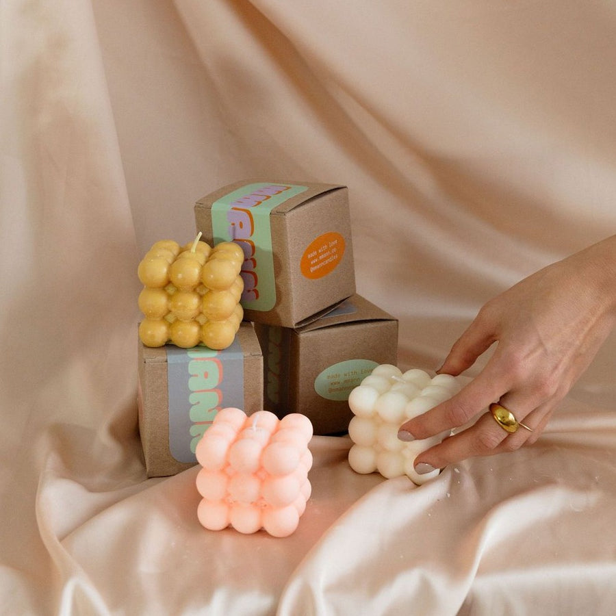 Pearly MMANN bubble candle available at Rook & Rose