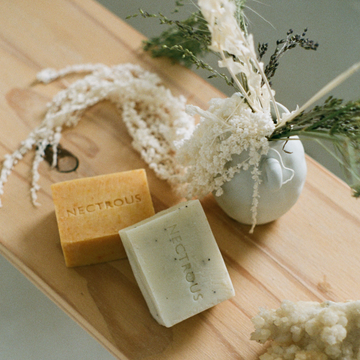 Nectrous hard soap bars available at Rook & Rose.