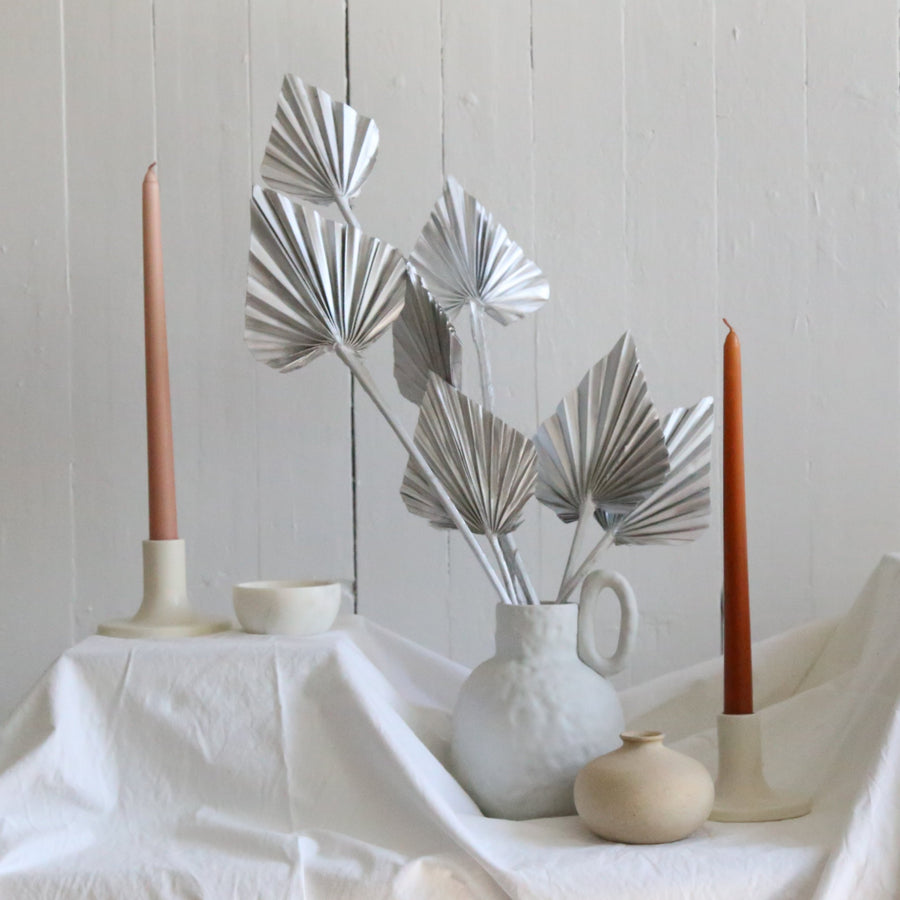 A bunch of dried silver spear palms available at Rook & Rose