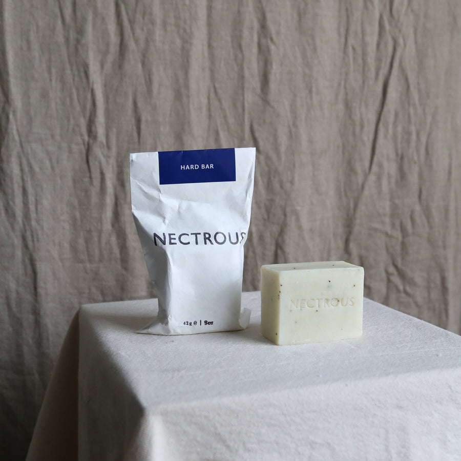 Nectrous hard soap bar available at Rook & Rose in Victoria BC.