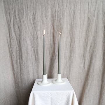 Moss Taper Candles - Set of 2