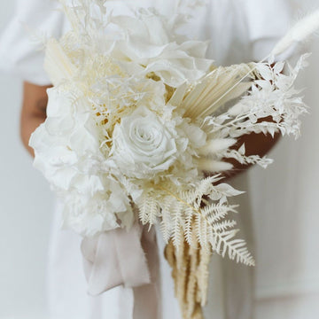 Dried floral bridal bouquet available at Rook & Rose.