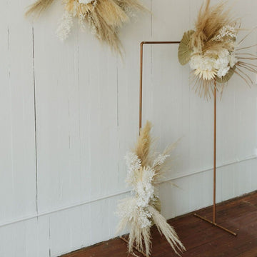 Large dried wedding floral installation available at Rook & Rose.