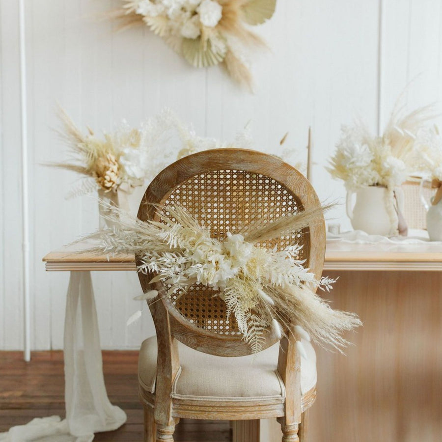 Dried chair flowers available at Rook & Rose.