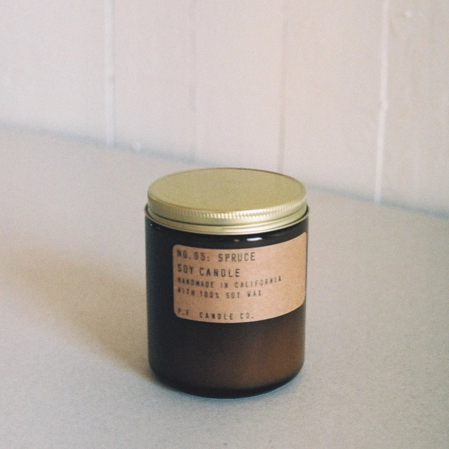 PF Candle Company Spruce Scented Candle available at Rook and Rose in Victoria, British Columbia, Canada
