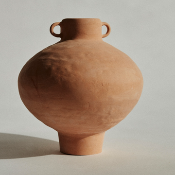 Marta Bonilla handmade ceramic terracotta amphora available at Rook & Rose.