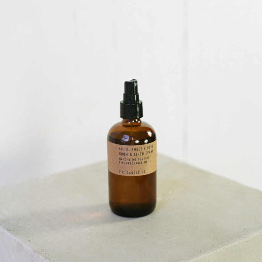 P.F. Candle Co. Amber + Moss room spray available at Rook & Rose