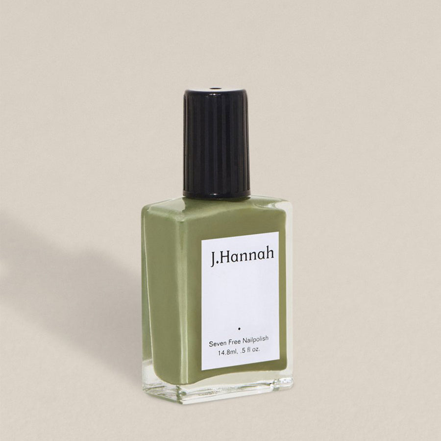 J.Hannah nail polish in Artichoke (green) colour, available at Rook & Rose in Victoria, British Columbia, Canada