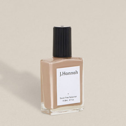 J.Hannah nail polish in Chanterelle, a light, earthy brown colour, available at Rook & Rose in Victoria, British Columbia, Canada