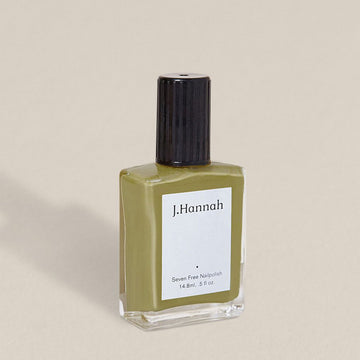 J.Hannah nail polish in Eames, a mid-century green colour, available at Rook & Rose in Victoria, British Columbia, Canada