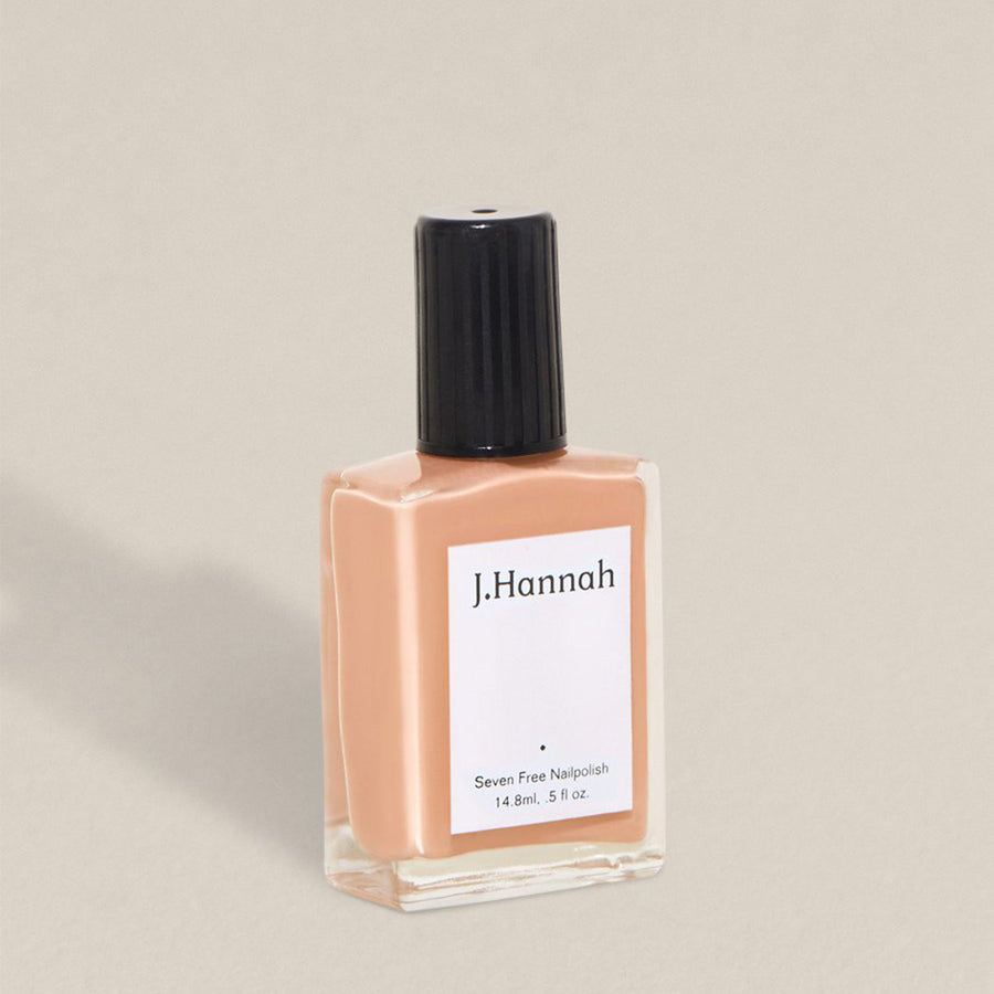 J.Hannah nail polish in Himalayan Salt, a muted peach colour, available at Rook & Rose in Victoria, British Columbia, Canada