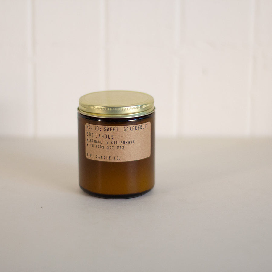 P.F. Candle Co. sweet grapefruit candle available at Rook & Rose
