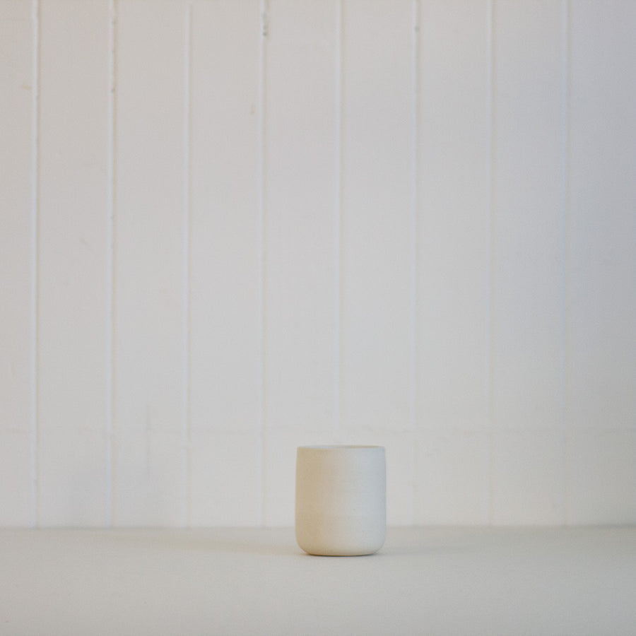 Off white stoneware cup by Rachel Saunders available at Rook & Rose in Victoria, British Columbia, Canada
