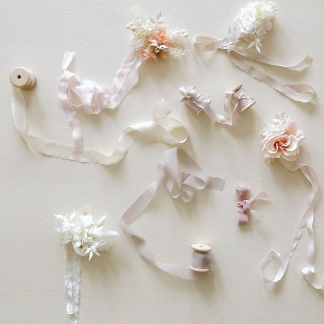 Dried floral corsage available at Rook & Rose.