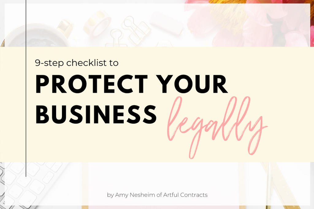 9 Step Checklist to legally Protect Your Business