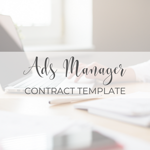 Ads Manager Contract Template