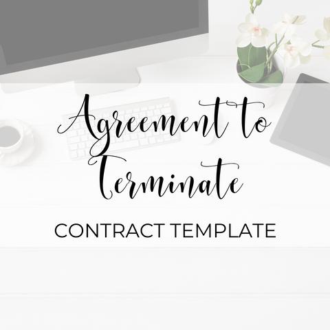 Agreement to Terminate a Contract Contract Template