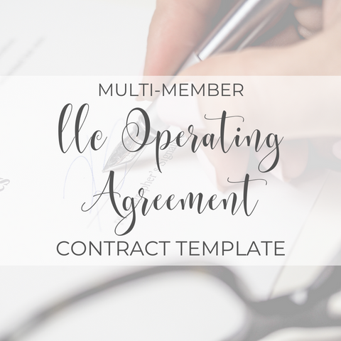 Multi-Member Limited Liability Company Operating Agreement Template