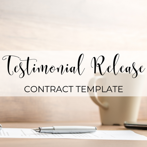 Testimonial Release Template